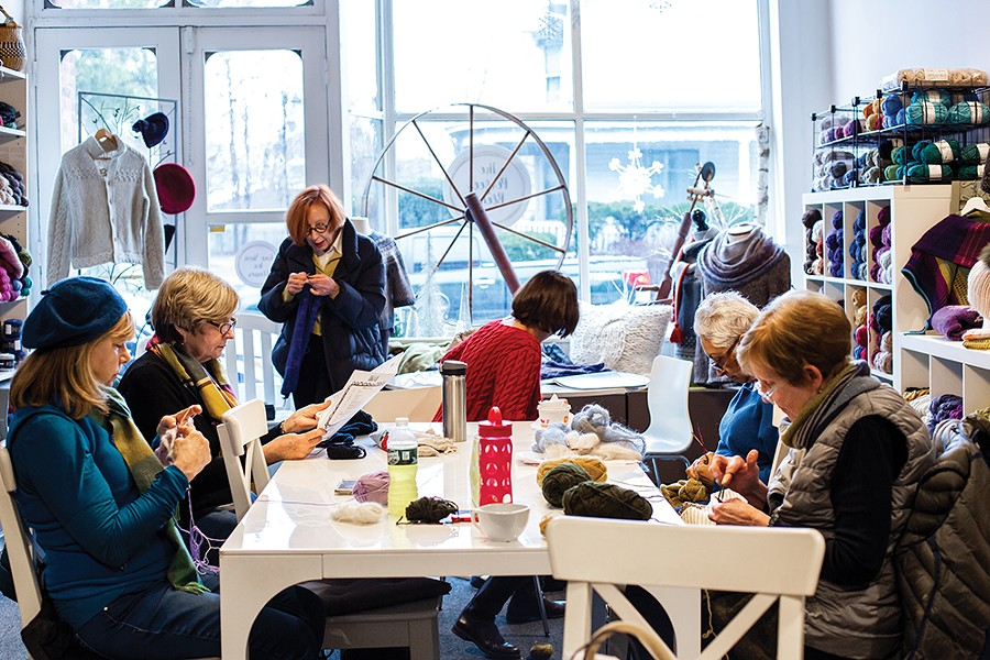 The Perfect Blend Yarn and Tea Shop is a retail space and home to a dedicated community of knitters. - PHOTO BY ANNA SIROTA