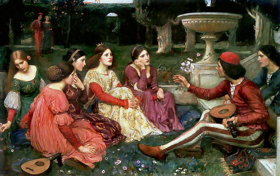 A TALE FROM THE DECAMERON BY JOHN WILLIAM WATERHOUSE, 1916