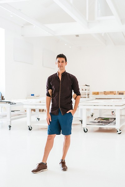 """Jonah Bokaer in the Robert Rauschenberg Foundation. """"It took a very long time, but now, with a little bit of success, I'm in the fortunate position of being able to take the medium of choreography and really tilting it toward the visuals,"""" he says of his work. - PHOTO BY MARK POUCHER"""