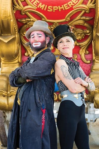 Keith Nelson and Stephanie Monseu of the Bindlestiff Family Cirkus