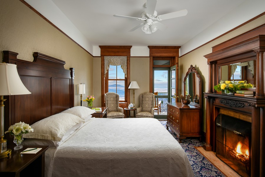 A King suite at Mohonk Mountain House. - COURTESY OF MOHONK MOUNTAIN HOUSE.