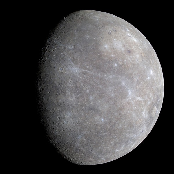 Enhanced-color image of Mercury from first MESSENGER flyby. - NASA