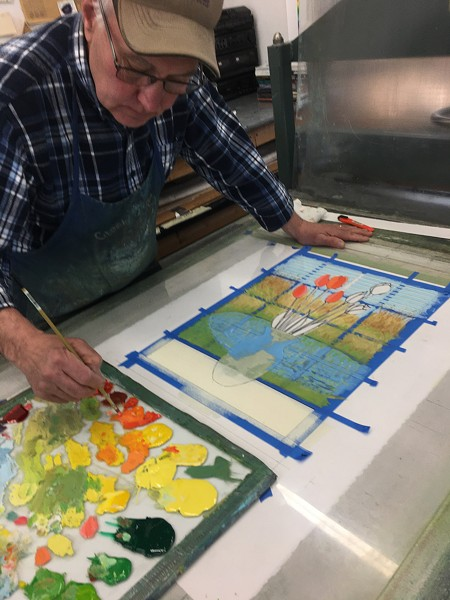 Ted Braggins, printmaker with Pondside Press, Rhinebeck, NY