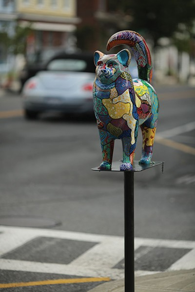 A cat sculpture in Catskill - JESSE TURNQUIST