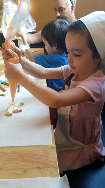 Kids' class at Frida's Bakery in Milton