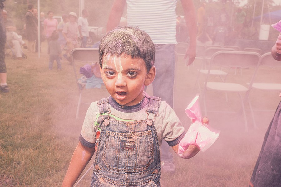 Bliss Kitchen and Wellness Center hosted a Holi color festival in Newburgh last summer. - RUEDI HOFMANN