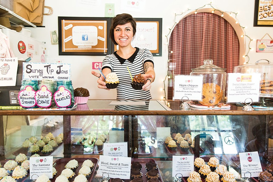 Kristina Sarhadi at Peace Love & Cupcakes in Woodstock - EVA DEITCH
