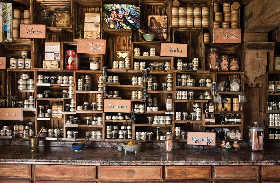 "Created from a former tack house on her Highland farm, Narine's spice shop offers a taste of the world. ""All my life I've been transported by spices,"" she says. - DEBORAH DEGRAFFENREID"