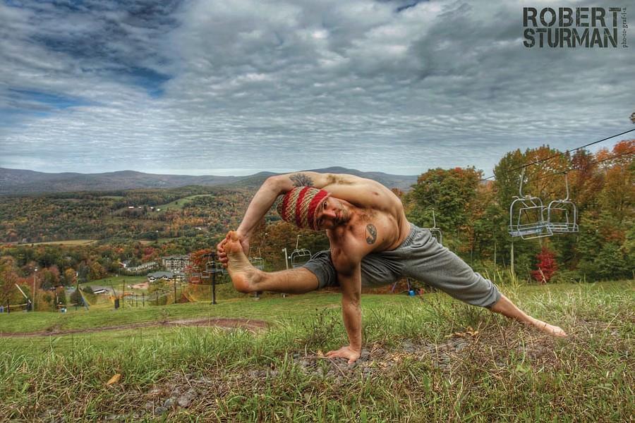 Justin Wolfer, one of the teachers at Ahimsa Yoga & Music Festival