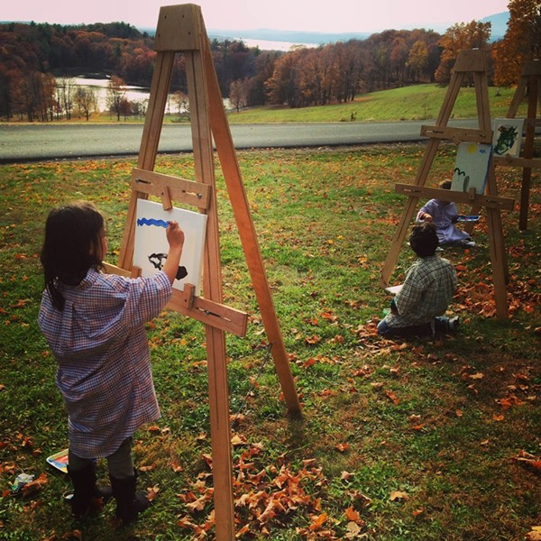 Plein-air painters at the Liberi School in Livingston - DAWN BREEZE