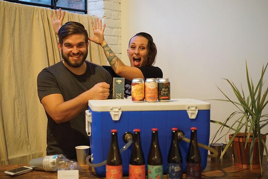 Kyle Sherrer and Sae Kenney of Graft Cidery. - JOHN GARAY