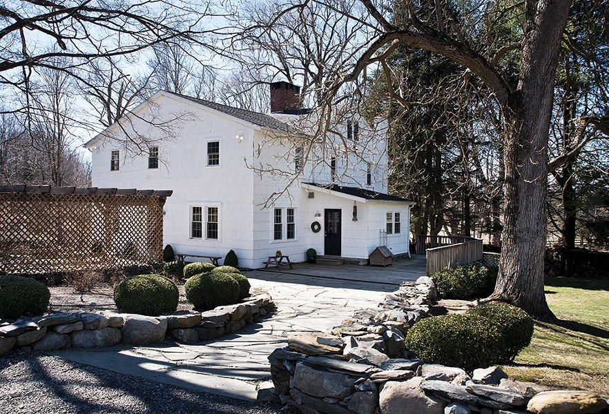 The 18th-century refurbished farmhouse sits on almost 80 acres of land—room enough for her family of six and her Alpacas to roam - DEBORAH DEGRAFFENREID