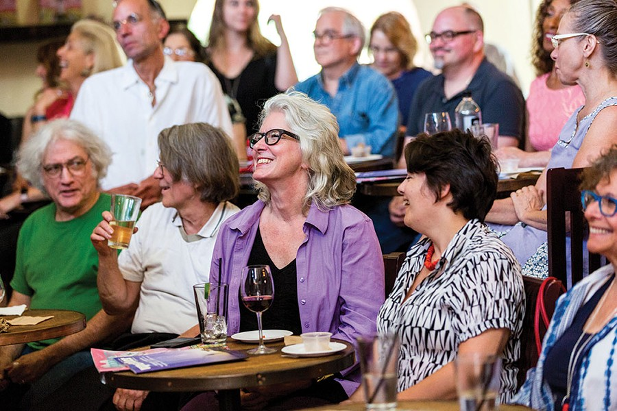 """Chronogram Conversations attendees enjoying the panel discussion """"The Persistence of the Arts in Woodstock and Saugerties."""" - RICHARD A. SMITH"""