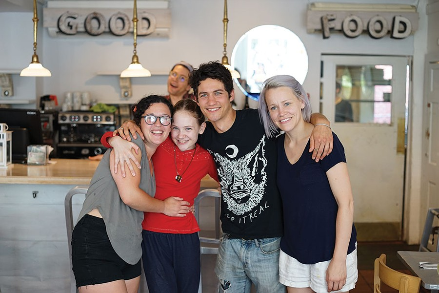 Kylla, True, Jordan, Lauren and Michael at the Garden Cafe in Woodstock. - JOHN GARAY