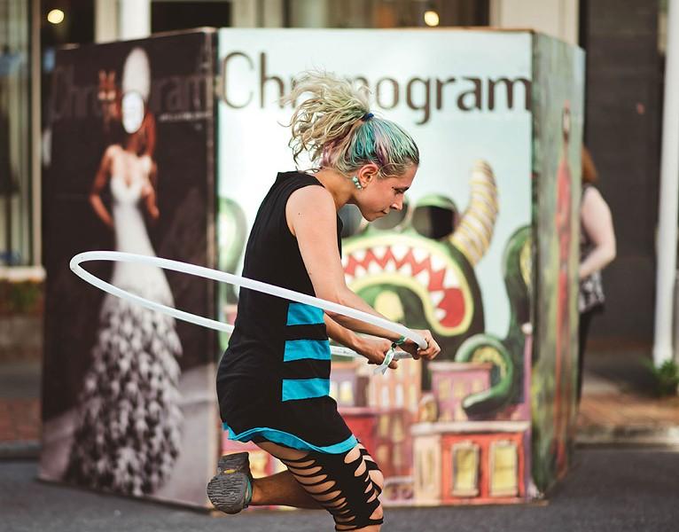 Street performer Lia Simone.