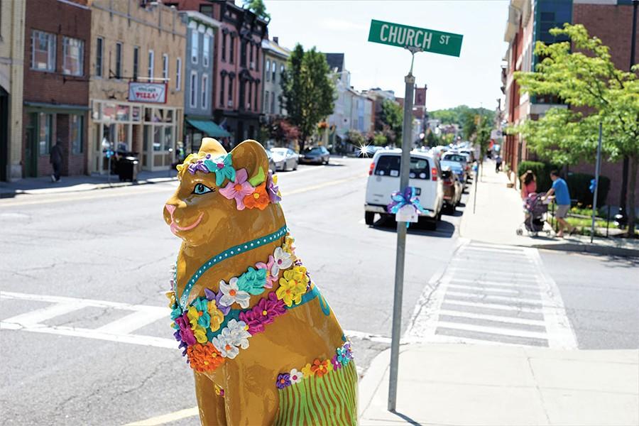 Catskill street scene. - JOHN GARAY