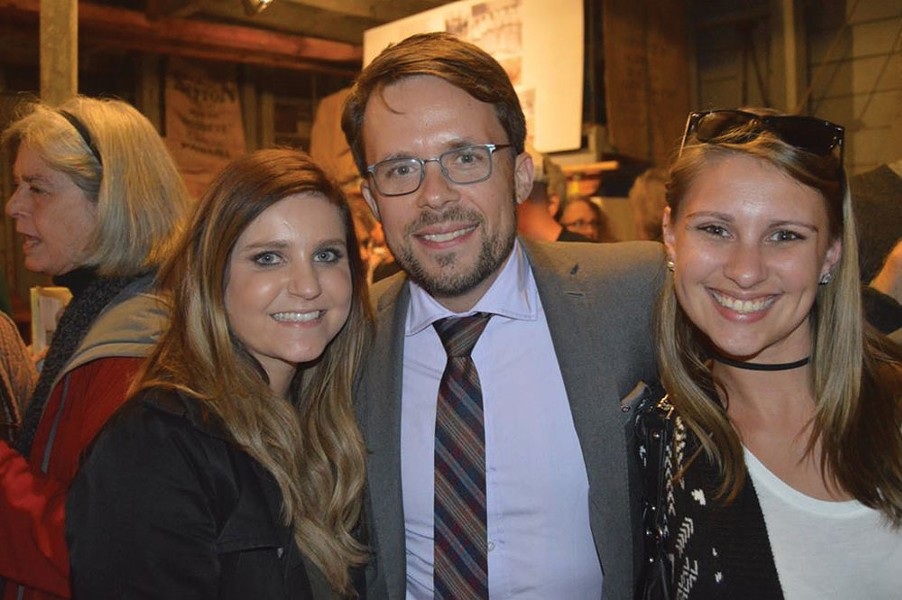 Tim Weidemann from the Ulster County Office of Economic Development flanked by Luminary Media's Emily Boziwick and Samantha Liotta (Roy Gumpel).