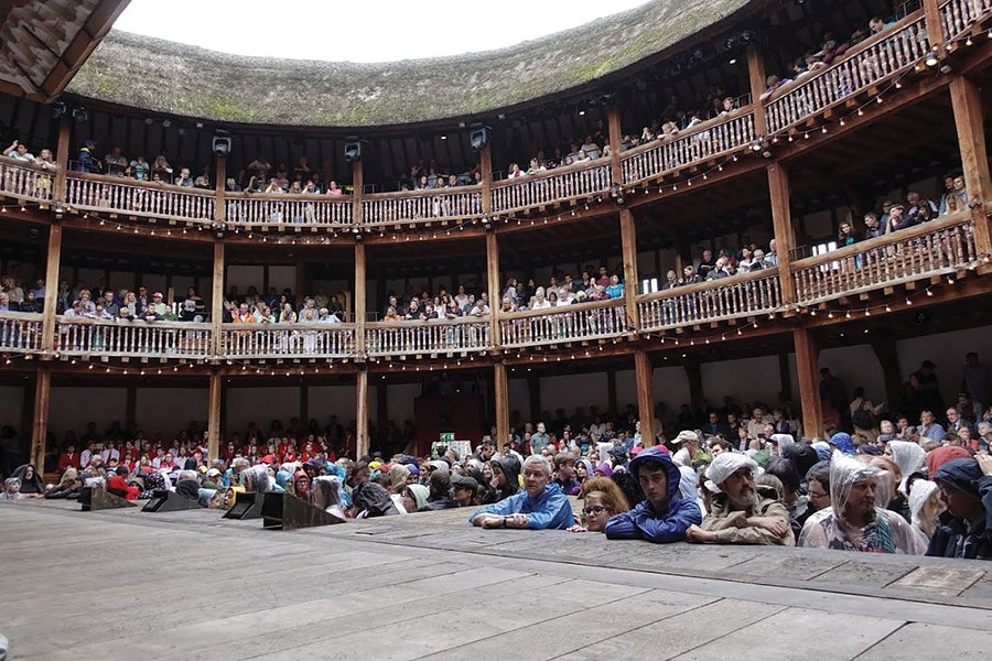 New Genesis Productions' Shakespeare Tour included a visit to the Globe Theater in London for its student thespians.