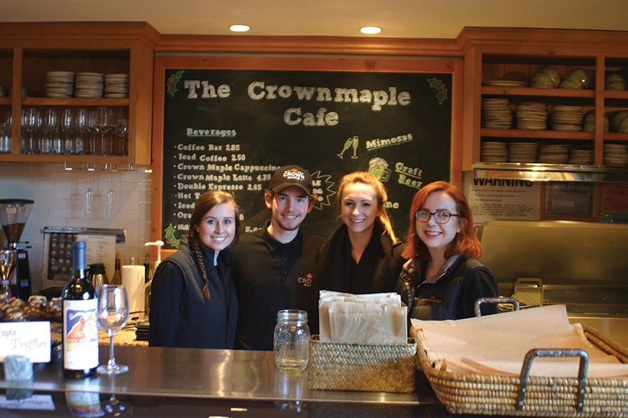 The Crown Maple cafe and store team. - BRIAN BERUSCH