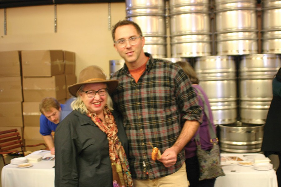 Breezy Hill Orchard's Elizabeth Ryan with Harlem Valley Homestead's Josh Viertel. - BRIAN BERUSCH
