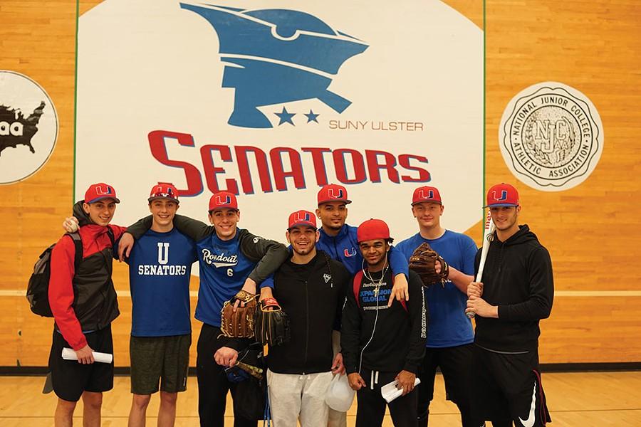 SUNY Ulster Senators baseball team members in Stone Ridge - JOHN GARAY