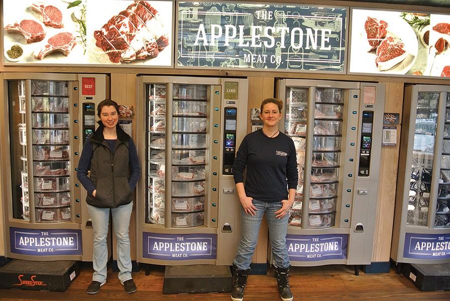 Corinne McDonald and Meghan Spoth of The Applestone Meat Co. in Stone Ridge - JOHN GARAY