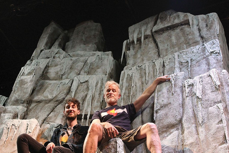 "Justin Pietropaolo and Conan McCarty on the set of ""K2"" at Shadowland Stages, running June 1-17."