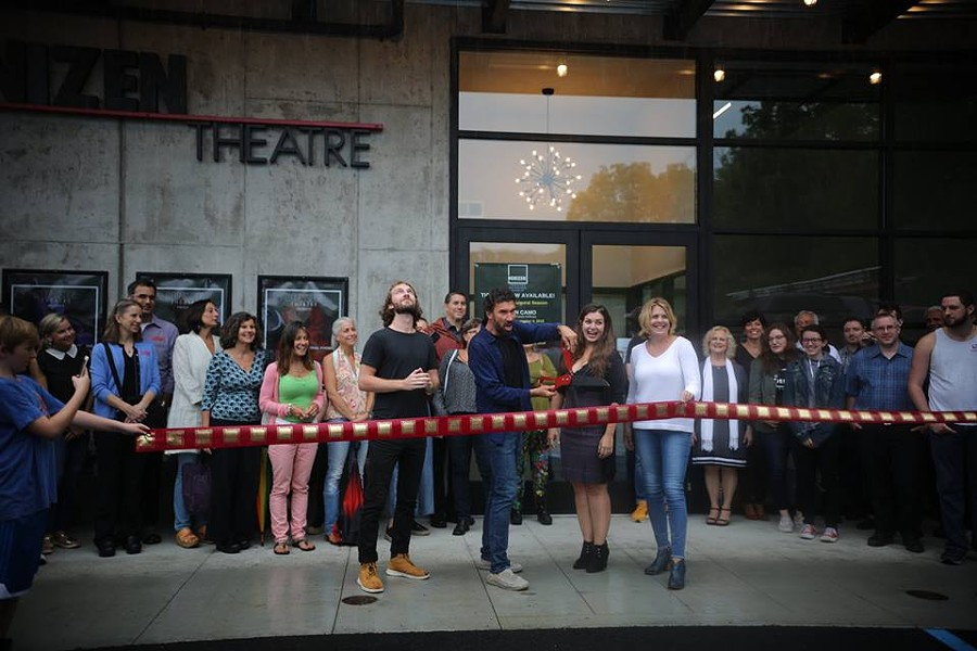 Ribbon cutting at Denizen Theatre in New Paltz on September 12.