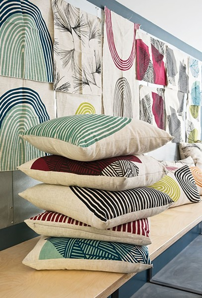 A collection of Doonyaya pillow designs. - DEBORAH DEGRAFFENREID