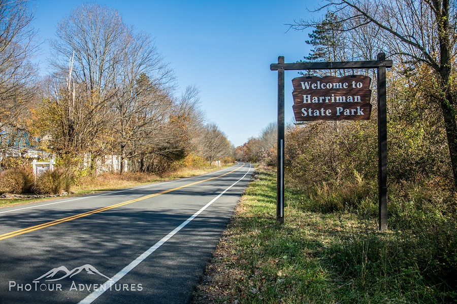 The road to Harriman State Park and outdoor adventures. The Reeves Meadow Visitor Center is 1 mile up from Sloatsburg along Seven Lakes Drive. - PHOTOUR ADVENTURES