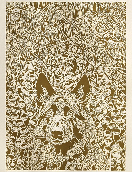 Foxglove, a paper cutout by Kristine Virsis - ALTERNATIVE COVER