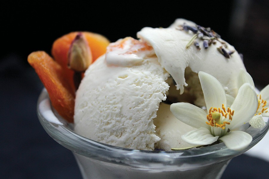Jane's Ice Cream's Apricot and Lavender. - PHOTO: CAIT BREWSTER