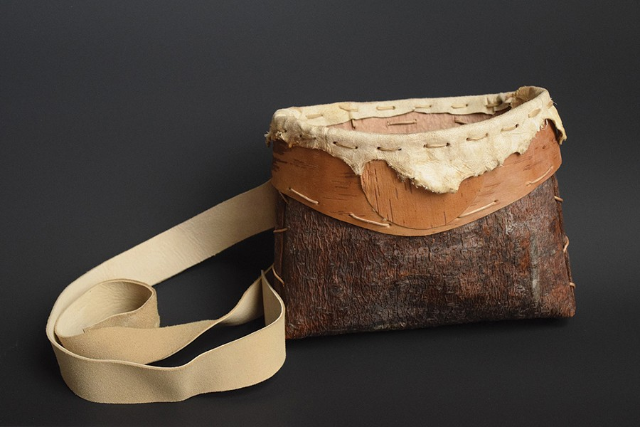 """A basket by Katie Grove, one of the works featured in the exhibition """"Art of Everyday Objects,"""" at Wired Gallery in High Falls through June 23."""