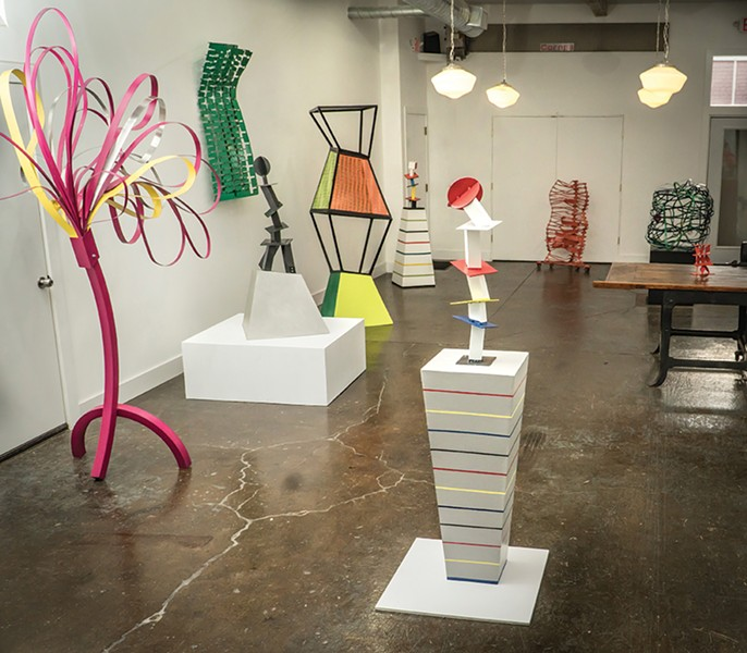 "The ""Vivien Collens: New Sculpture"" exhibition at Holland Tunnel Gallery. - PHOTO: DANIELLE VAN HOUTEN"