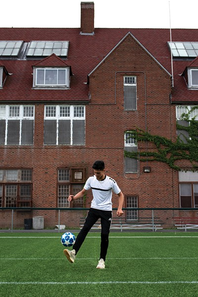 Thomas J Bracken IV playing soccer at Hudson Sports Complex. - PHOTO: CHRISTINE ASHBURN