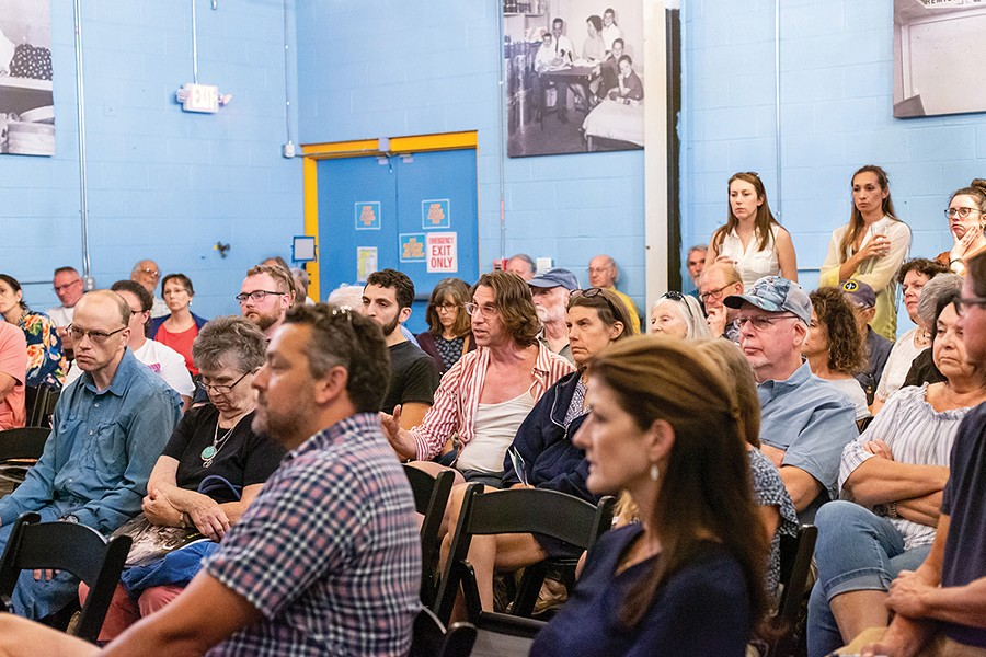 The captivated audience listens to the panel of experts. - PHOTO: ANNA SIROTA