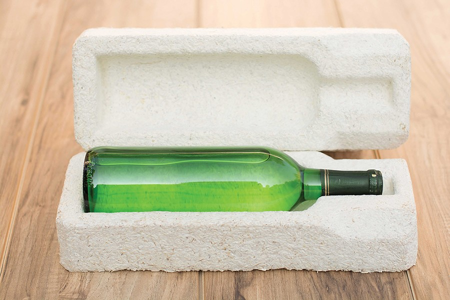 Custom compostable packaging uses MycoComposite technology.