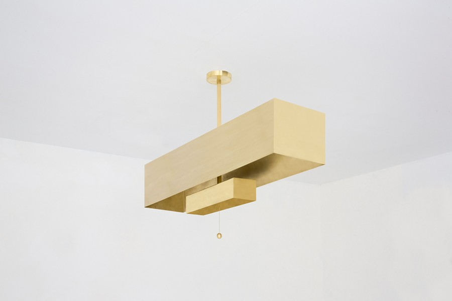 Block Pendant fixture from Workstead's Archetype line. - TEAM CAMRON