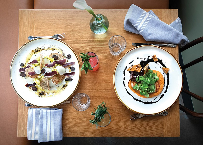 Recently opened Mama Roux brings afforable French-inflected Creole cuisine to Newburgh's north side - PHOTO: ANN STRATTON