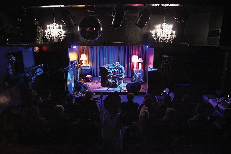 Marck Trecka performs at the Avalon Lounge on November 14, opening for avant-garde sound artist and percussionist Tatsuya Nakatani. - PHOTO: NIVA DORELL