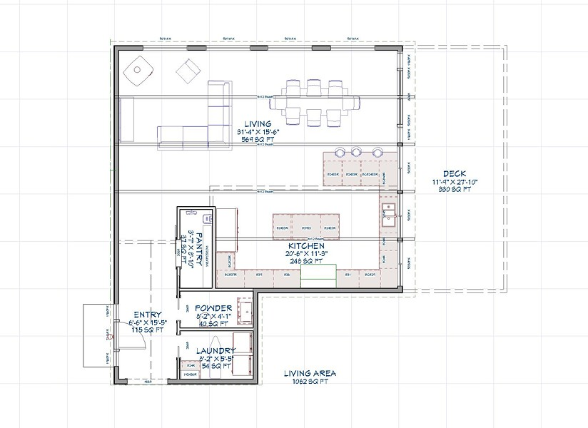 Sample floorplan - ATLANTIC CUSTOM HOMES