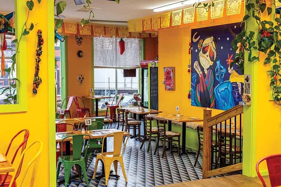 El Azteca on lower Main Street is prized by locals for its inexpensive, authentic Mexican food. - PHOTO: ANNA SIROTA