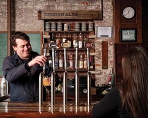 Tommy Keegan behind the bar at Keegan Ales in Kingston in 2009.