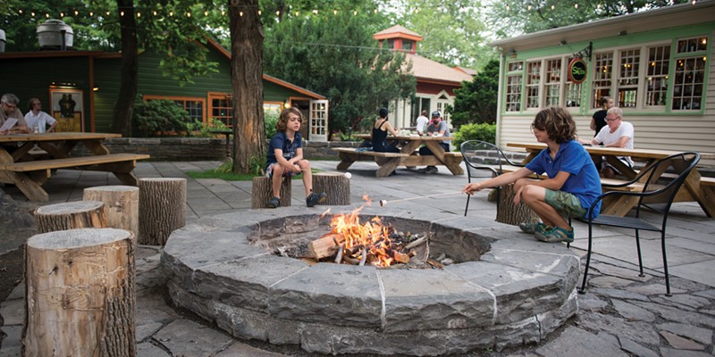 Creative Neighbors The fire pit at the Bearsville Theater complex. Christine Ashburn