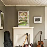 Home Is Where the Art Is Eddie's guitars, a pachinko game, and a work by Julie Hedrick. Deborah DeGraffenreid