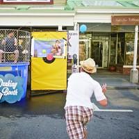 Chronogram Block Party 2015 Dunk Tank action Saundi Wilson