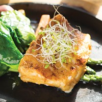 Understated Authentic: Cinnamon Filet of sea bass grilled in tandoor. Roy Gumpel
