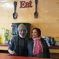 Newburgh & Cornwall: A Riverfront with Two Faces Rudolph and Deborah Duffus at Calabash Caribbean Restaurant & Lounge in Newburgh John Garay