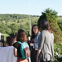 Chronogram Conversations Glynwood Center Event attendees enjoy the perfect weather.