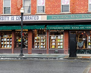 Inquiring Minds Bookstore is an independent bookshop with locations in Saugerties and New Paltz that's not afraid to wear its politics on its storefront.